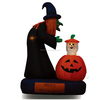 180cm Halloween inflatable witch with animated ghost