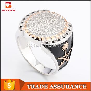 42c9f154e5c2 Hombres anillo de plata joyería de moda turco diseño 925 plata esterlina  rodio plateado joyería de