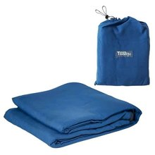 Sleeping Bag Liner With Full Length Double Zipper And Carrying Bag