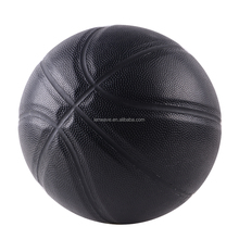 Lenwave brand name basketball in bulk custom black leather no logo basketball ball