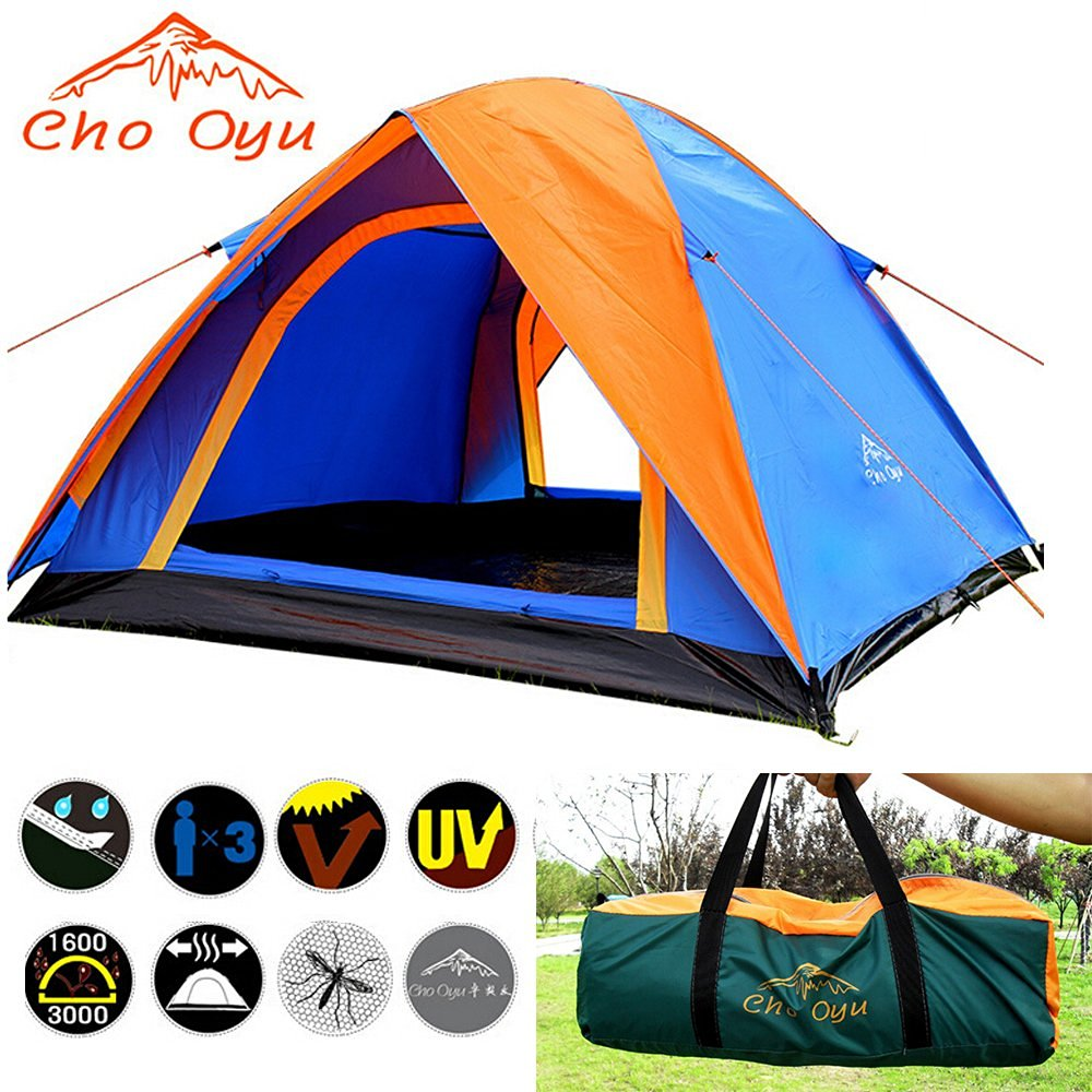Cho Oyu-portable Backpack Tent 3,4 Person 2 Layers 2 Rooms Rainproof for Outdoor Camping
