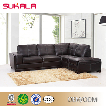 Whole Modern Contemporary European Executive Office Living Room Bedroom Furniture Brown Leather Corner Sofa