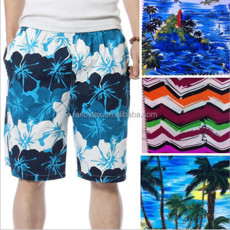 100%polyester twill/plain Peach Skin Fabric microfiber brushed digital printed 75d*150d peach skin fabric beach shorts fabric