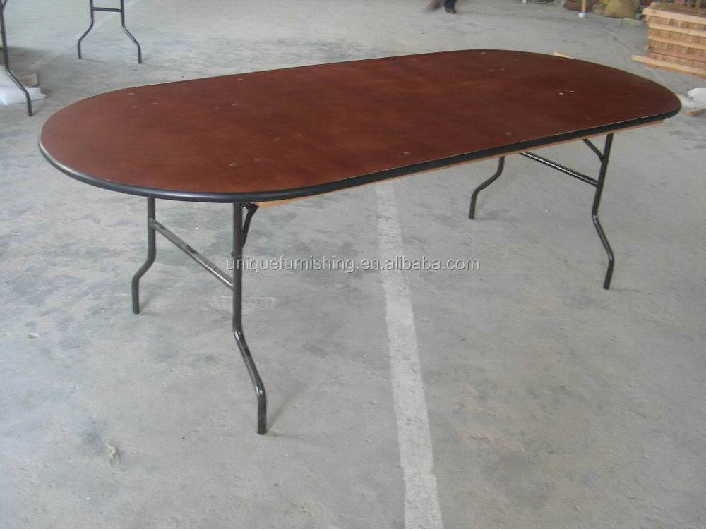 Top Quality Oval Wood Folding Table,Design Dining Table - Buy New ...