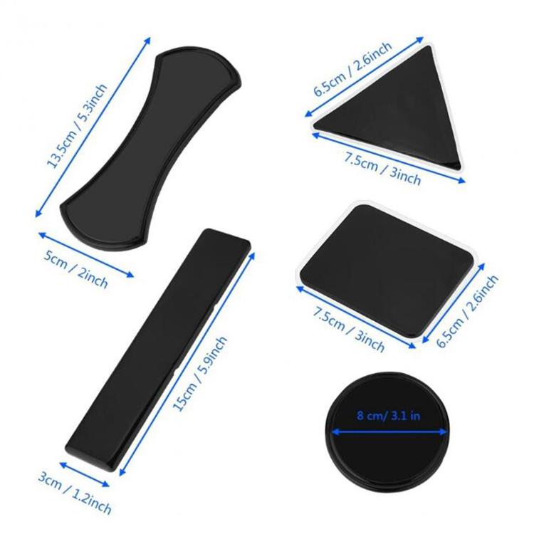 Useful 5Pcs Nano Car Magic Anti-Slip Dashboard Sticky Pad Mat Phone Holde NA