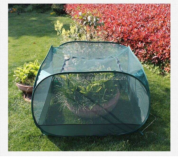 protective mesh plant covers mini greenhouse