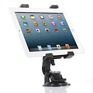 Fonus Universal 360 Degree Rotatable Windshield Car Mount Window / Desk Tablet Holder Stand Dock for Verizon Apple Ipad 2, Verizon Apple IPad Mini, Verizon Apple The New iPad