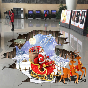 Christmas Decoration self adhesive 3D vinyl Stickers