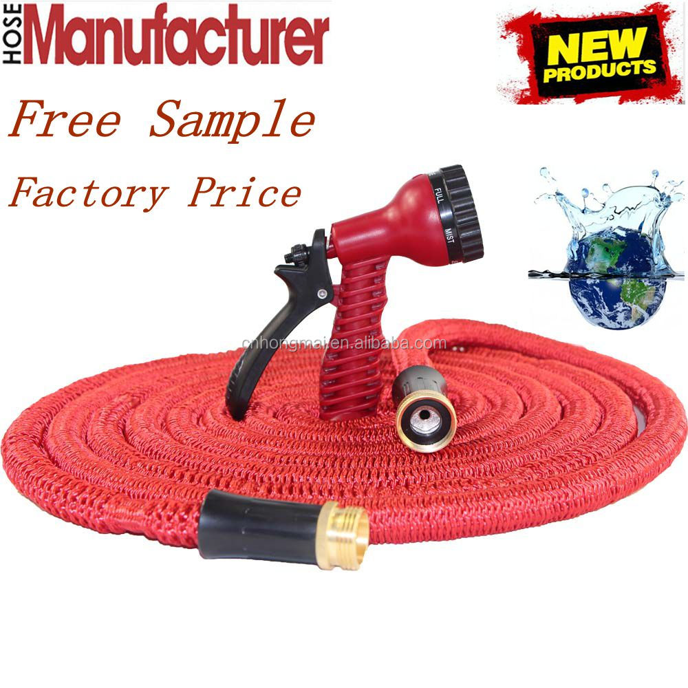 Retail Online Shopping Heavy Duty Garden Hose Expandable Hose Set 50FT With 7 Spray Gun