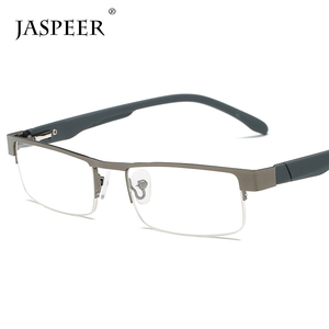 Jaspeer wholesale high quality black old people square framed half rimless reading glasses