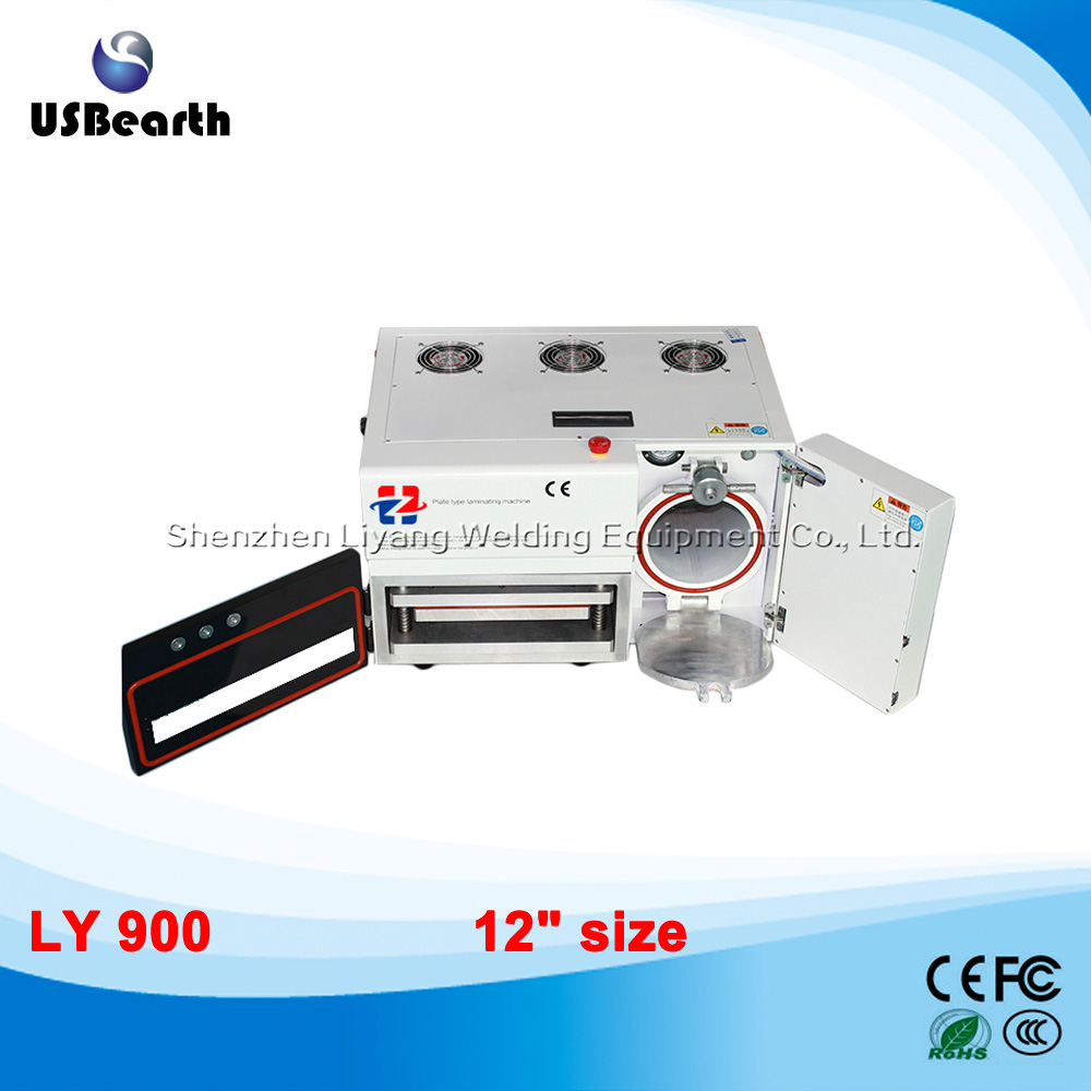 LY 900 newest MAG OCA vacuum laminating machine built-in dobouble bubble remove machine12 inch