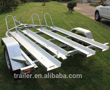 Hot Dipped Galvanized 3 Rails Motorcycle Trailer Motorbike Trailer