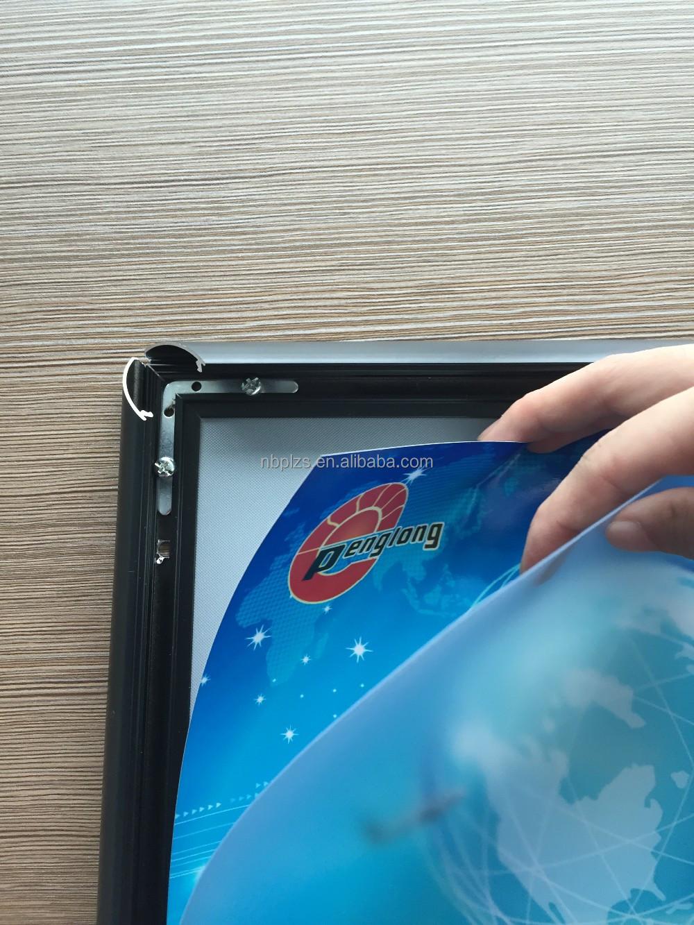 Extrusión de aluminio Snap frame A1, plana marcos del cartel 80x120 ...
