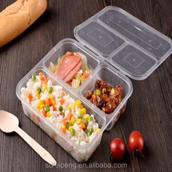Pp Plastic Takeaway Food Storage Packaging Container Tray Lunch Box