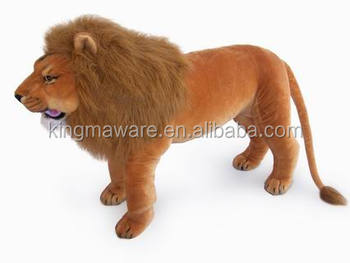 Giant Realistic Plush Lion Toy Stuffed Standing Lion Plush Toy Life