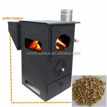 Camping wood stove or coal heating and cooking stove