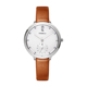 Japan movt quartz watch stainless steel case back lady watch