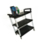 Heavy Duty Three Shelves Plastic 3 Tire Dining Room Hand Cart