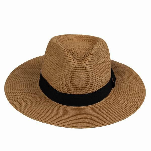 e229ef0c34a Get Quotations · Women Men Unisex Straw Hats Wide Brim Cap Solid Color Summer  Hats for Outdoors Beach Travel