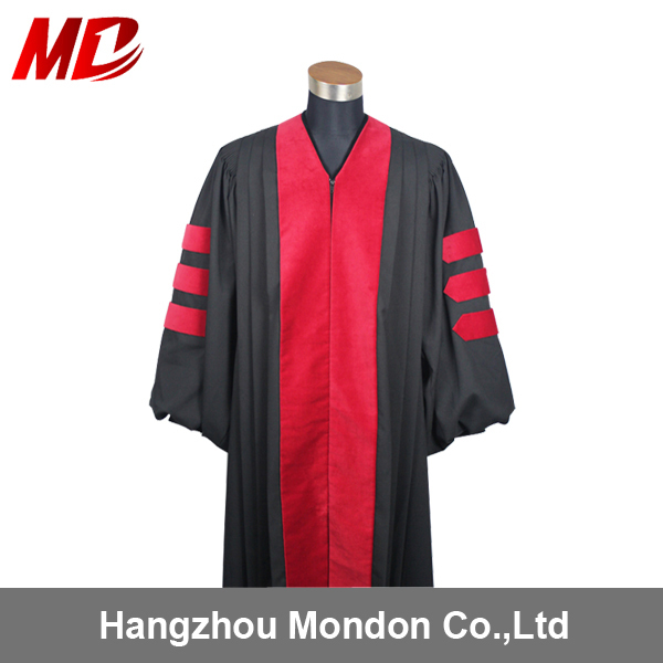 High Quality Doctor's Gown Deluxe Doctoral Graduation Robe
