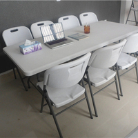200cm long extendable plastic folding table from Chinese factory