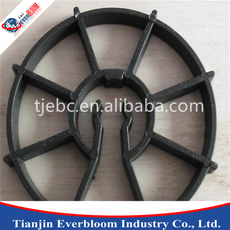 Black Circular Construction Spacer in Plastic