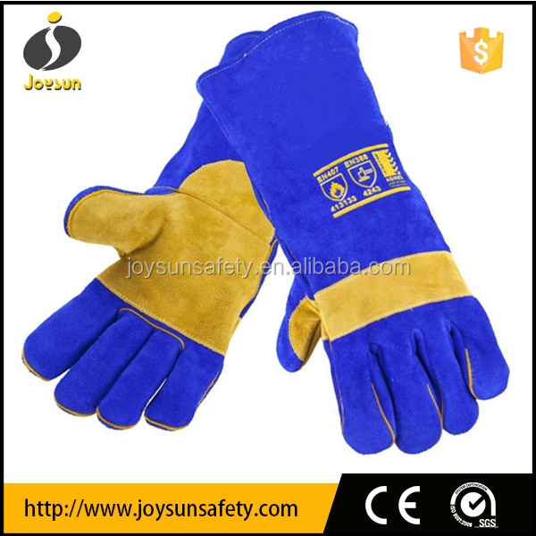 heavy duty leather welding gloves reinforced double palm