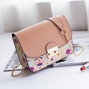 0e228693115f 2018 Multi-color latest chain Crossbody Bag for girls Small Square Cartoon  Bags Ladies Shoulder