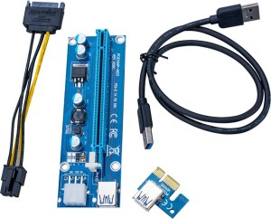 Hot selling Factory Price riser pci-e x1 x16 riser 6 pin big stock