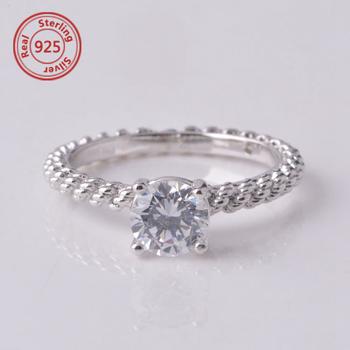 sterling silver women ring imitation diamond jewelry fake diamond ring  expandable wedding ring 8afa70c044
