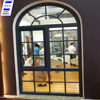 HUGE aluminum Guangdong factory double glazed arch window