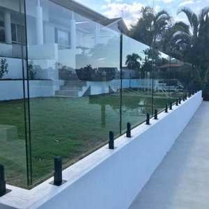 cheap safety clear panel fence panels tempered laminate glass swimming pool fence fencing panels railing for sale