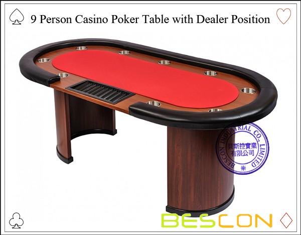 Wood blackjack table