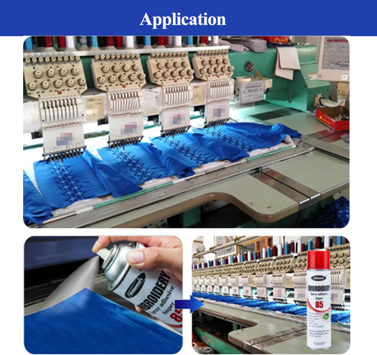 Embroidery Spray Fabric Adhesive Glue For Garments
