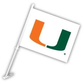 Miami Hurricanes Car Flag--(Package of 2)