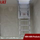 High Loft Wood Telescopic Extension Aluminum Attic Ladder