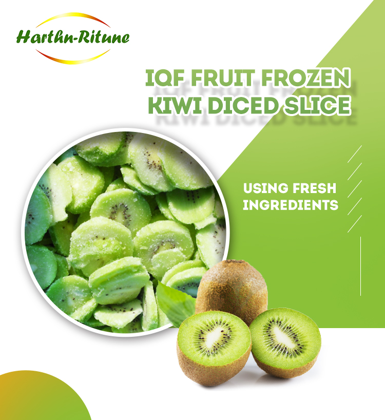 Qualities product IQF frozen kiwi slice diced
