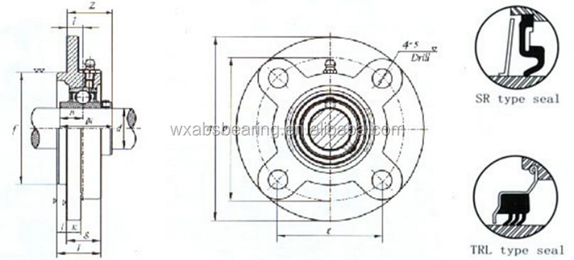 Insert Ball Bearing Ucfc208 Asahi Pillow Block Bearing