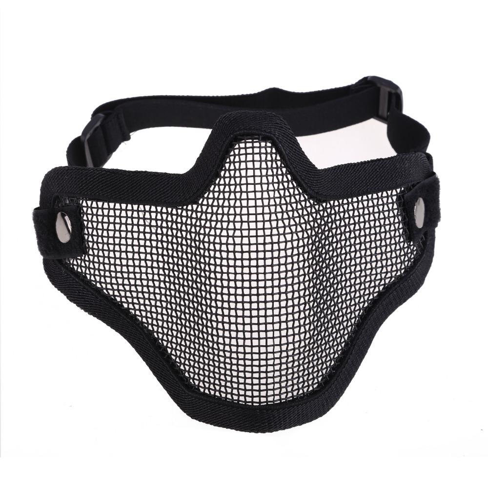 Новые тактические охота металл половина маска сетки Airsoft пейнтбол защитный CLSK