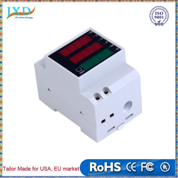 100A 300V Multi-functional LED Digital Rail Current Power Factor Ammeter Voltmeter