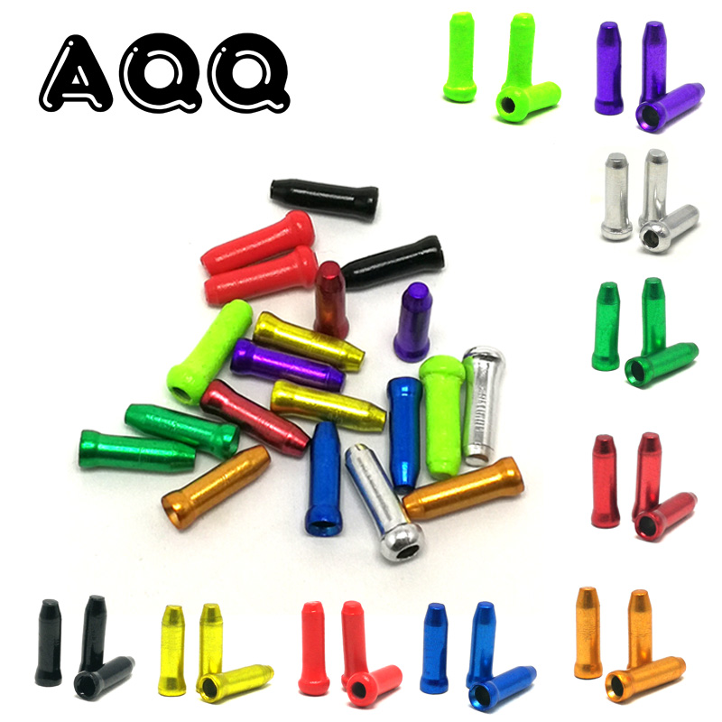 50pcs//set Bike Bicycle Derailleur Shifter Brake Gear Inner Cable Ends Multicolor