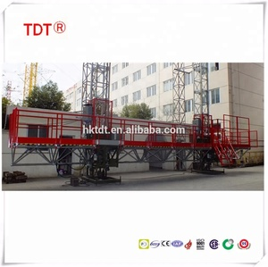 Building construction materials lift mast climbing working platforms