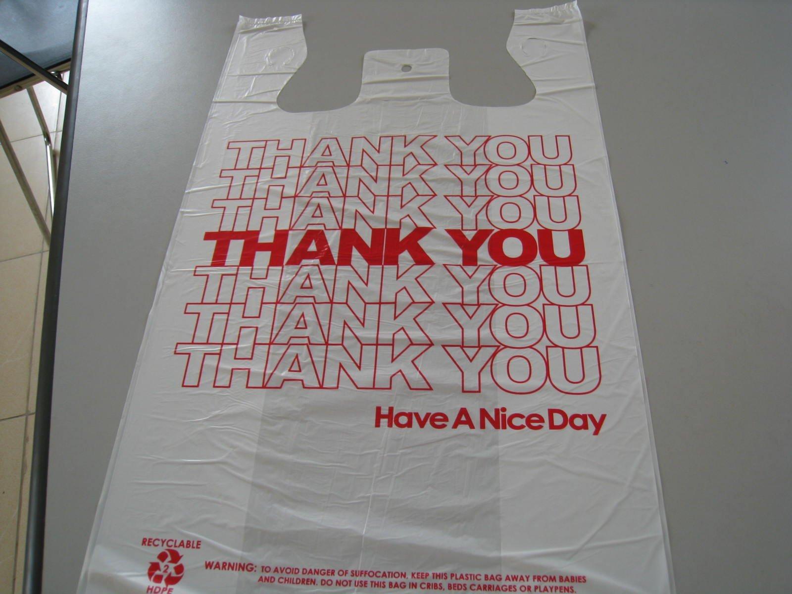 Thank You Plastic Bag Food