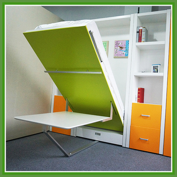 Space Saving Hidden Wall Bed With Office TableSpace Saving