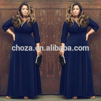 9145e04655974 C22205b Western Fashion Fat Ladies Big Sizes Dresses - Buy Big Size ...
