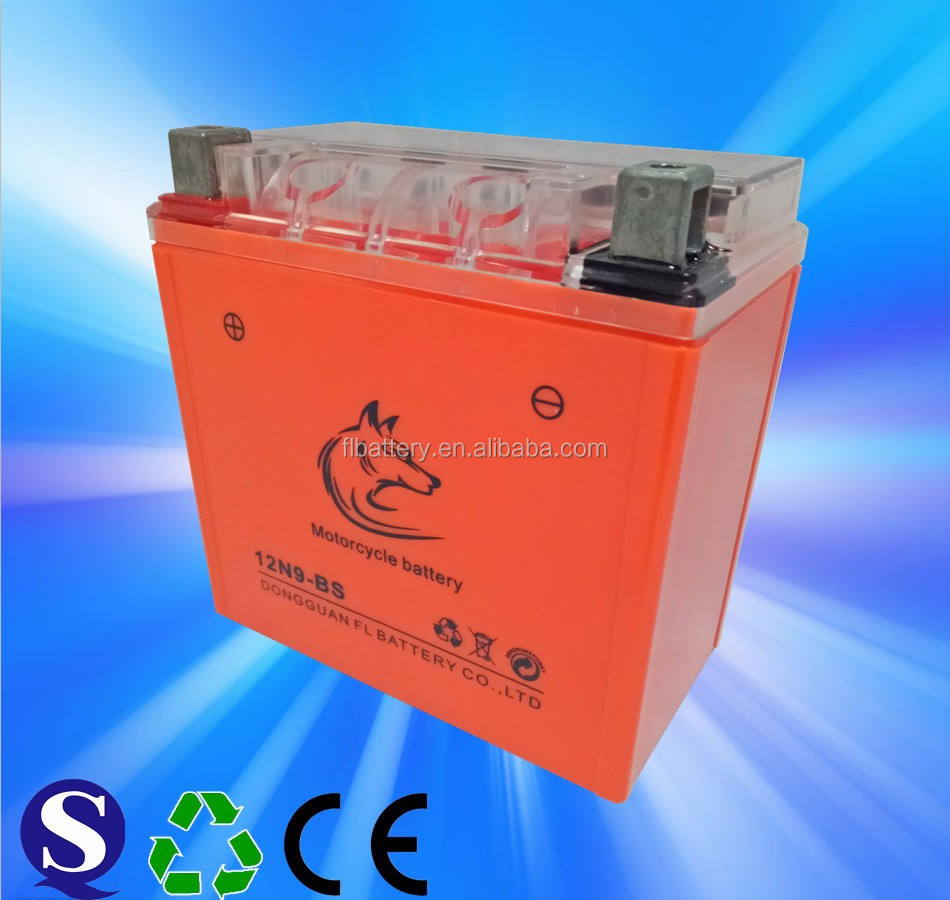 12v9ah Dry Charge Powersports Battery For Motorcycle,Atv,Scooter,Jet Skis -  Buy Battery For Feilang 12n9,Motorcycle Battery Fl 12n9,Batteries Product