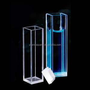 10mm spectrophotometer glass quartz cuvette with lid