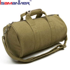 BSCI audit factory cotton gym bag, name brand canvas sports bag