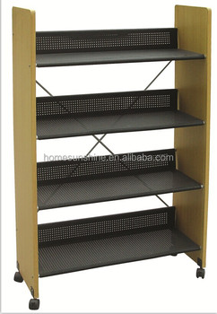 Particle Board PVC 18mm MDF Materials And Modern Appearance Bookshelf