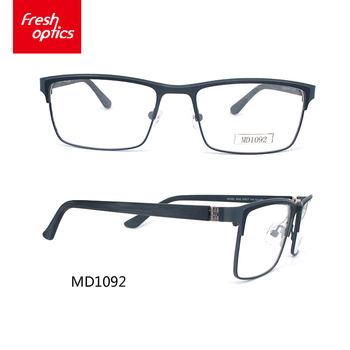 5c036064ab2 Md1092 Oem Unisex Big Size Square Metal Optical Frames With Width ...